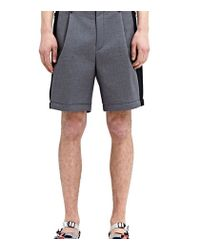 Kolor - Gray High Tech Mesh Detail Shorts for Men - Lyst