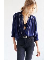 BDG - Blue Melanie Button-down Shirt - Lyst