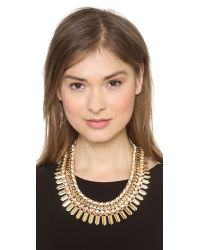 Adia Kibur - Metallic Crystal Statement Necklace - Lyst