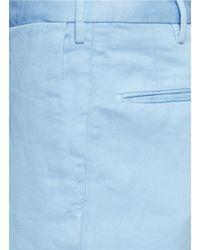 Incotex - Blue Cotton-linen Chinos for Men - Lyst