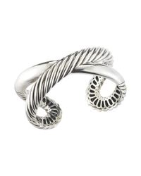 David Yurman - Metallic Pre-owned Ss X Cuff Bracelet for Men - Lyst