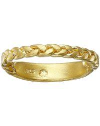 Dogeared | Metallic Balance Braided Bar Ring | Lyst