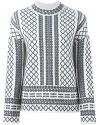 Tory Burch - Natural Aran Knit Sweater - Lyst
