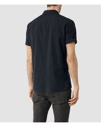 AllSaints - Blue Waycross Short Sleeved Shirt Usa Usa for Men - Lyst