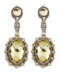 Konstantino | Yellow Lemon Topaz Peridot Double Drop Earrings | Lyst