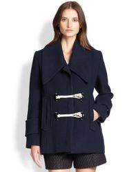 Carven - Blue Toggle Coat - Lyst