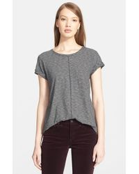 Rag & Bone | Black 'meadow' Short Sleeve Tee | Lyst
