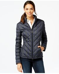 Tommy Hilfiger | Black Quilted Packable Down Puffer Coat | Lyst
