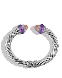 David Yurman - Pink Cable Classics Bracelet With Guava Quartz & Amethyst - Lyst