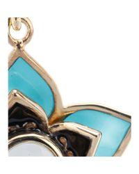 Isharya - Blue Lotus 18kt Goldplated Earrings - Lyst