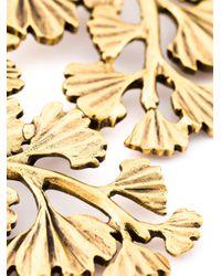 Oscar de la Renta | Metallic Golden Wavy Leaf Necklace | Lyst