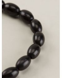 Luis Morais - Black Gold Detail Bracelet for Men - Lyst