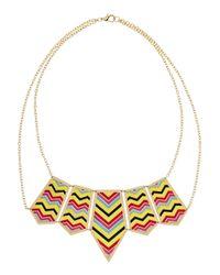 Noir Jewelry - Metallic Enameled Goldtone Necklace - Lyst