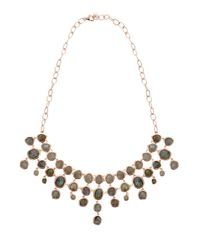 Monica Vinader - Metallic Labradorite Siren Bib Necklace - Lyst