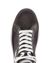 Hogan Rebel | Black Leather And Suede High Tops | Lyst