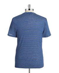 Michael Kors | Blue Striped Linen Tee for Men | Lyst