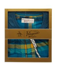 Original Penguin | Blue Two Piece Pajama Set for Men | Lyst