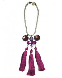 Matthew Williamson | Pink EXCLUSIVE Jeweled Crescent Necklace | Lyst