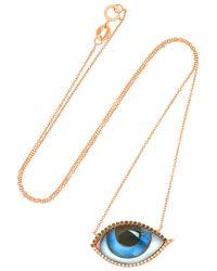 Lito - Multicolor 14-karat Rose Gold, Diamond, Ruby And Enamel Necklace - Lyst