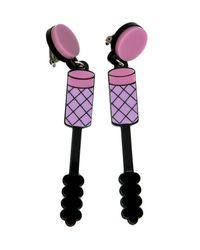 Yazbukey | Pink Mascara Earring | Lyst
