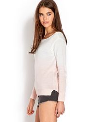 Forever 21 - Natural Soft Ombre Sweater - Lyst