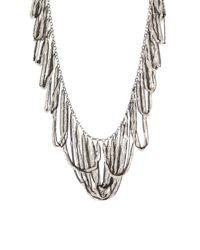 BCBGMAXAZRIA | Metallic Looped Fringe Necklace | Lyst
