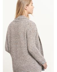 Violeta by Mango - Brown Metallic Detail Cardigan - Lyst