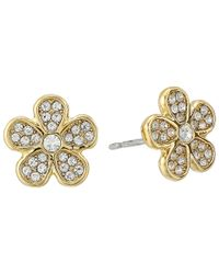 Marc By Marc Jacobs | Metallic Pave Daisy Studs Earring | Lyst
