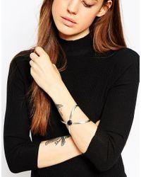 ASOS | Metallic Cross Stone Cuff Bracelet | Lyst
