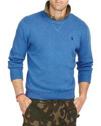 Polo Ralph Lauren - Blue Crewneck Sweatshirt for Men - Lyst