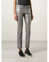Zadig & Voltaire - Metallic Skinny Five Pocket Trousers - Lyst