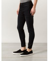 R13 - Black Drop-crotch Skinny Jeans for Men - Lyst