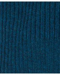 Paul Smith | Blue Teal Ribbed Wool Knit Jumper for Men | Lyst