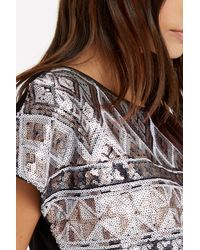Oasis - Metallic Aztec Sequin T-shirt - Lyst