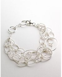 Lord & Taylor | Metallic Sterling Silver Triple Row Link Bracelet | Lyst