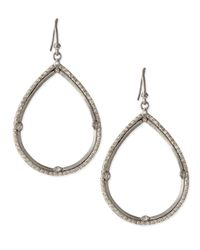 Armenta - Metallic New World Silver & White Diamond Teardrop Earrings - Lyst