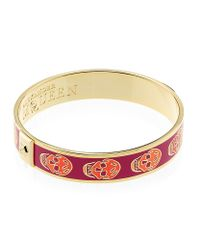 Alexander McQueen - Red Small Enamel Skull Bangle - Lyst