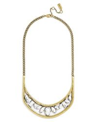 BaubleBar | Metallic 'hera' Collar Necklace - Clear/ Antique Gold | Lyst