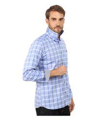 Ted Baker | Blue Thepane Long Sleeve Check Shirt for Men | Lyst