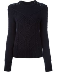 Isabel Marant | Blue Cable Knit Sweater | Lyst