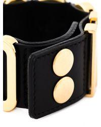 Moschino - Black Logo Letter Cuff - Lyst