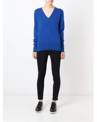 Unconditional - Blue V-neck Sweater - Lyst