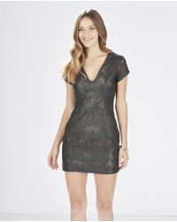 Parker | Black Serena Perforated-Leather Dress | Lyst