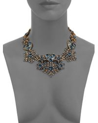 Oscar de la Renta | Blue Crystal Hearts & Stars Bib Necklace | Lyst