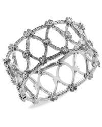 2028 - Metallic Silver-tone Glass Lattice Bracelet - Lyst