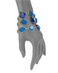 ABS By Allen Schwartz | Blue Three Row Toggle Bracelet | Lyst
