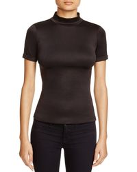 Aqua | Black Scuba Top | Lyst