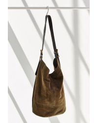 BDG - Green Drapey Suede Tote Bag - Lyst