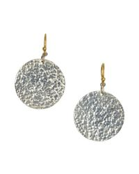 Gurhan | Metallic Silver And Gold 'flake' Disc Earrings | Lyst
