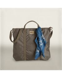 RRL - Green Nylon Tote Bag for Men - Lyst